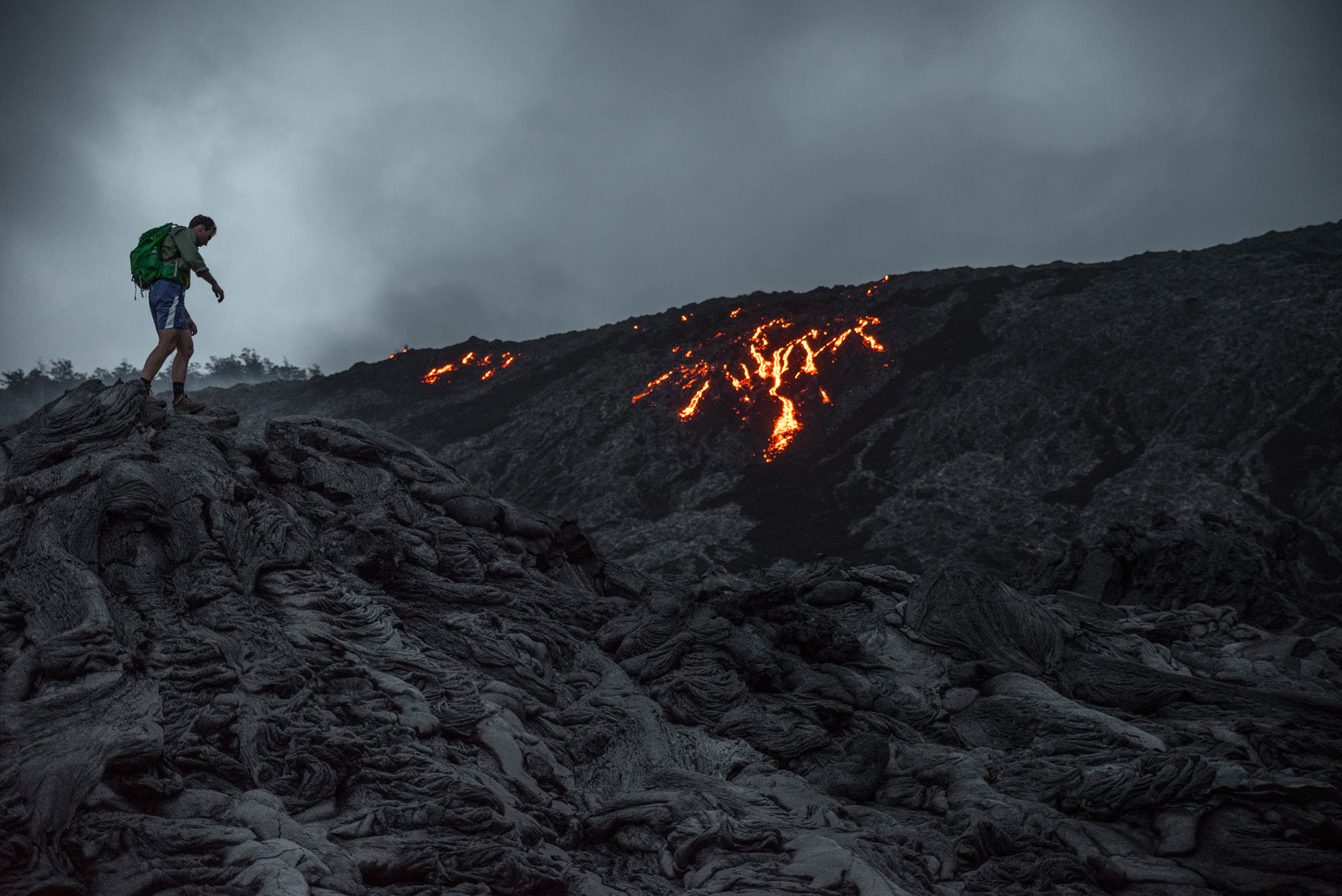 we climb an active volcano in Hawaii